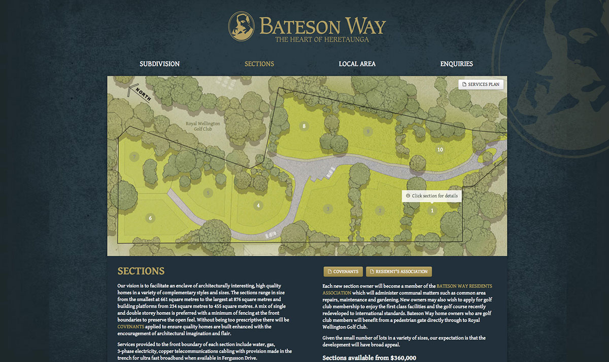 Bateson Way sections for sale