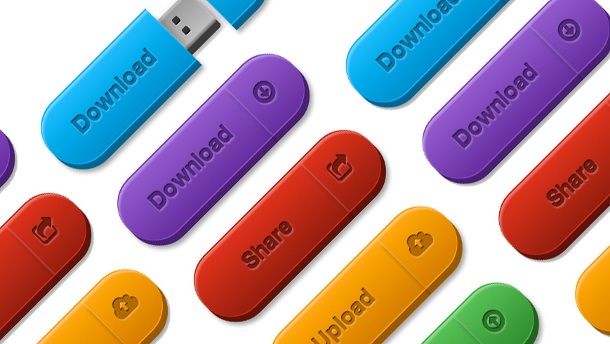 Picture showing the USB drive links in various flavours
